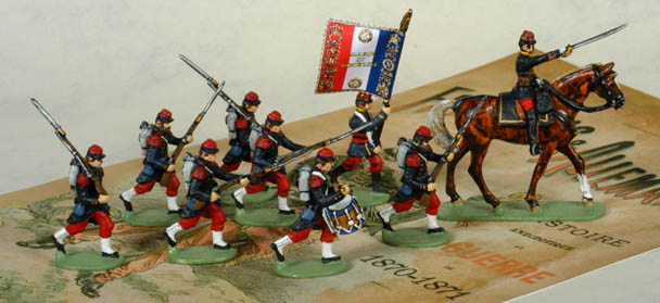 French painted infantry